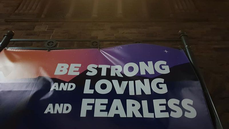 Words by Martin Luther King. BE STRONG, LOVING, FEARLESS.