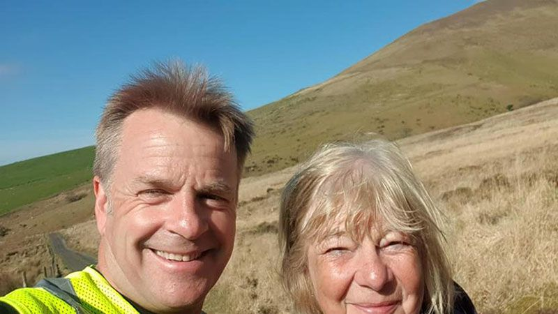 With Christine Gordon, mountain hiker extraordinaire