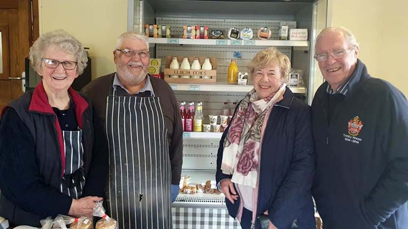 Carla's Farm Shop, run by Rhiannon and Barry on the left, near Rosebush