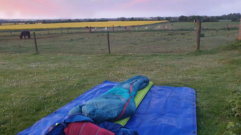 Sleeping in the great wide open in beautiful Chedworth