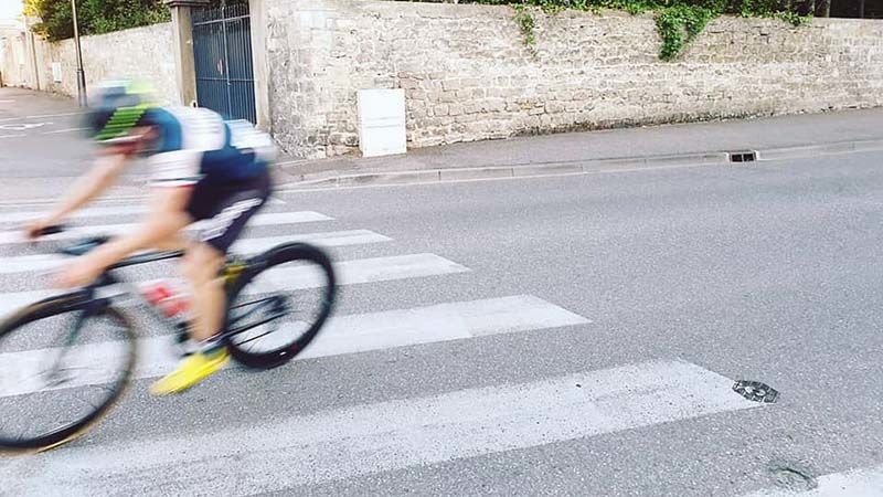 About the nearest I got to a decent Tour de France action shot