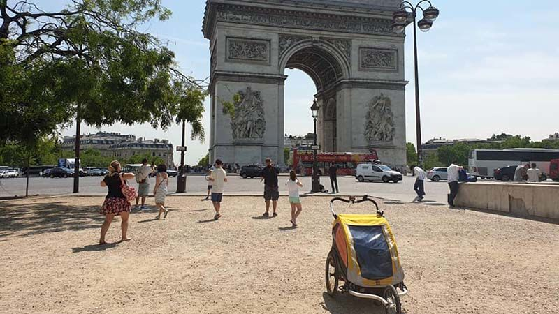 Arc de Triomphe...some fool has left a baby buggy in the way!