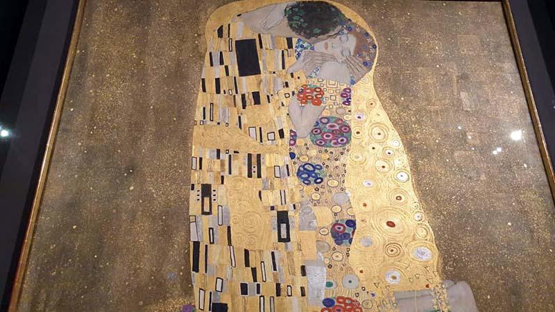 The Kiss by Vienna artist, Gustav Klimt
