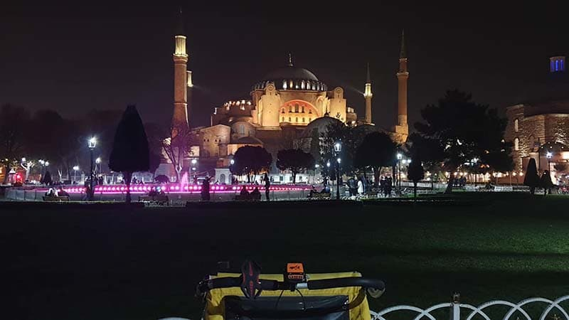 Koko overlooking Hagia Sophia which has survived since BC times and through each of the city's eras - Byzantium, Constantinople and now Istanbul