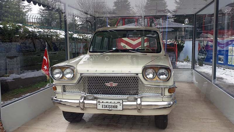 The Revolution 'Divrem' Car in Eskisehir. Only four Turkish manafactured cars were ever made, all in 1961