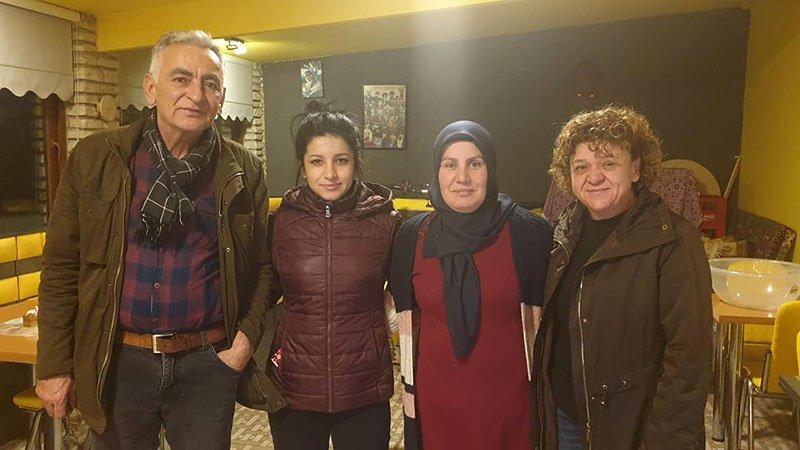 Halil, Mustafa, Derya and Fatma at Gonze Tutoni Cafe