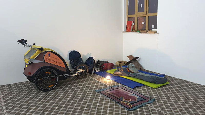 Hunkering down at the Truckers' Mosque amidst the prayer mats and rosary beads