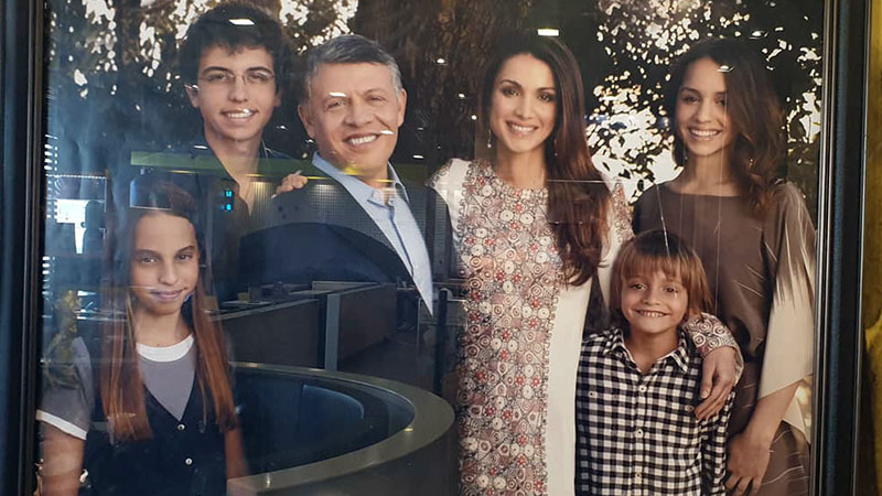 A typical poster of popular King Abdullah and his family, found all over Jordan
