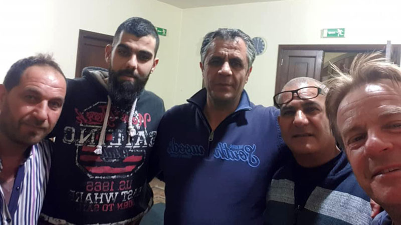 Four of the police who let me shelter in the station at Dahr El Baydar