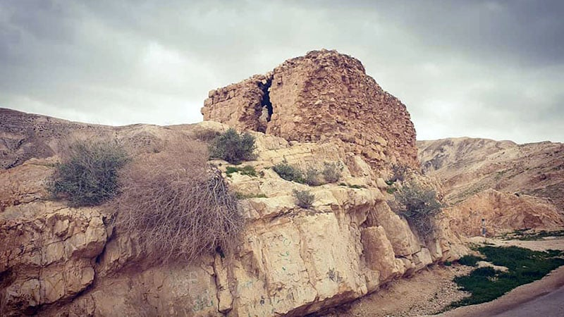 On the stunning trail between Jericho and Jerusalem which passes by Bedouin settlements, monastries hewn out of the rock and in the footsteps of the Good Samaritan