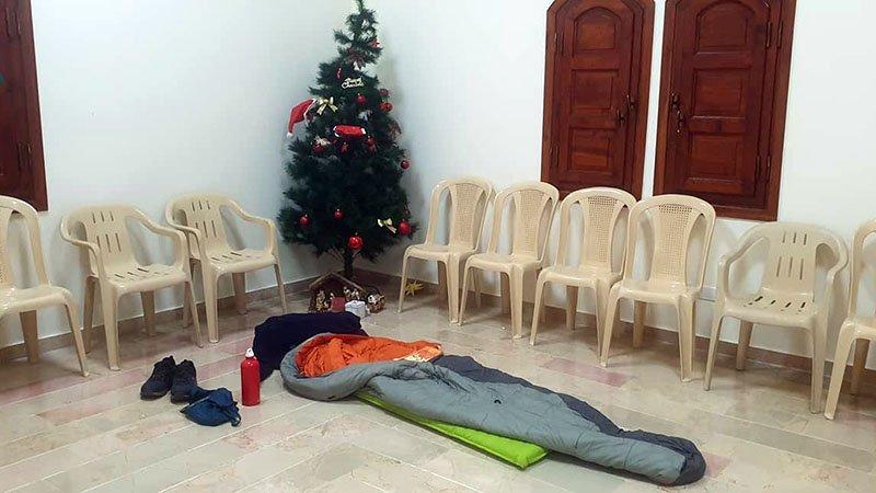 Sleeping on holy ground