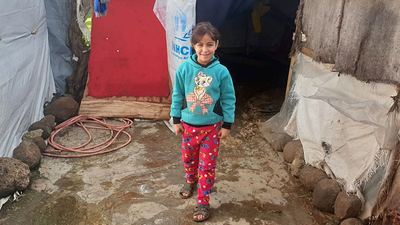 Snapped at a refugee camp on the Syria-Lebanon border. Due to the war this girl has spent her life in a makeshift tent. For all the hardship her cheeky, defiant smile brings hope